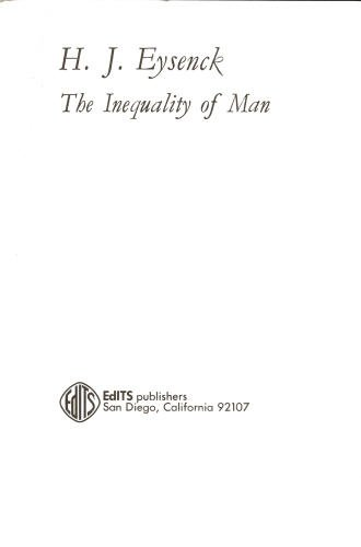 Eysenck the inequality of man